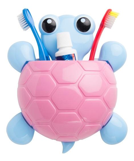 Porta Escovas De Dente E De Pasta De Dente Tartaruga Com Ventosa Para Pendurar No Banheiro - Marco Boni