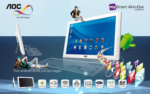 Tablet Aoc Smart Monitor 21.5 Wide Tecl+mou+android