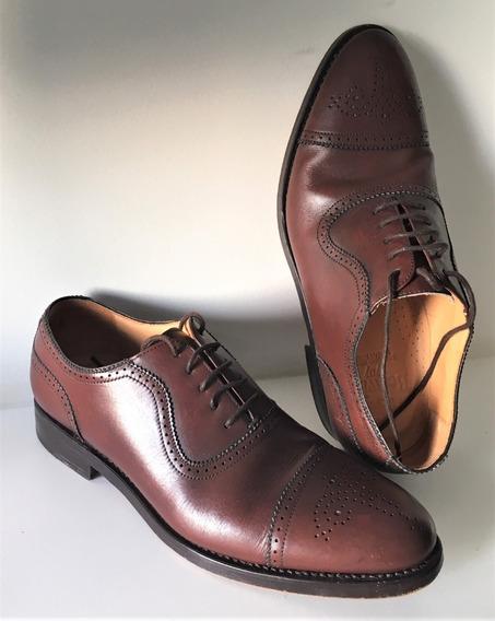 Sapato Social Berwick 1707 Em Couro Marrom