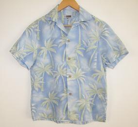 Edwards Camisa Hawaiiana Estampado Palmeras Talla Xs
