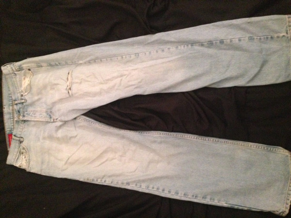 Pantalon Jean Recto Azul Claro Para Hombre Bensimon Talle 33