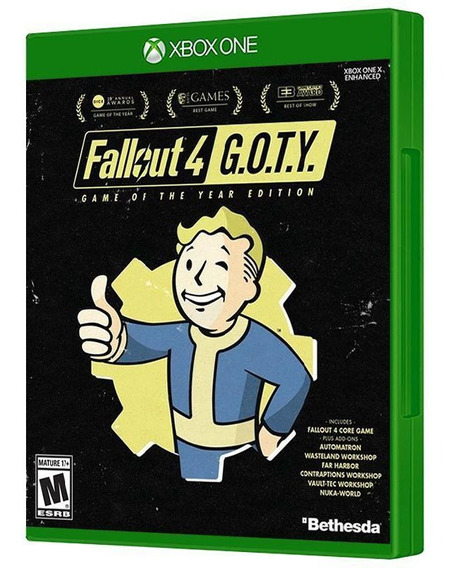 Fallout 4 Goty Game Of The Year Xbox One Mídia Física Promo!