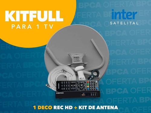 Kit Inter Satelital Deco Hd + Antena Nuevo Con Garantía