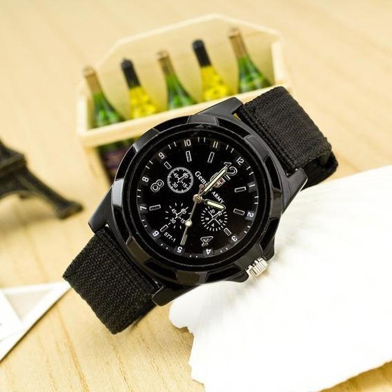 Relógio Masculino Analógico Pulseira De Cinta Estilo Militar