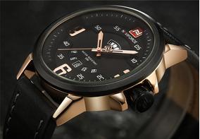 Relógio Militar Masculino Naviforce Analógico Original