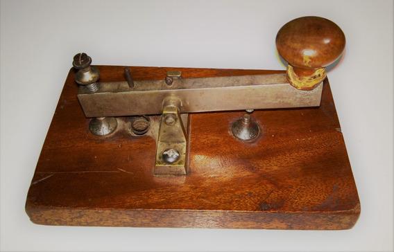 Antiguo Pulsador Telegráfico Ferroviario - Excelente Estado