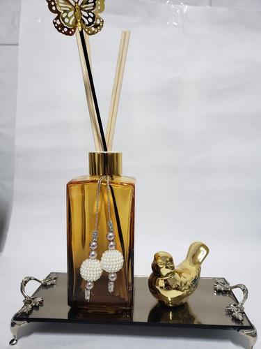 Imagem 1 de 5 de Kit Lavabo Banheiro Aromatizador Difusor Bandeja Luxo 250ml