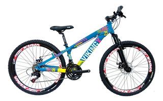 Bicicleta Vikingx Tuff 25 Aro 26 Freio Disco Cores Disp.
