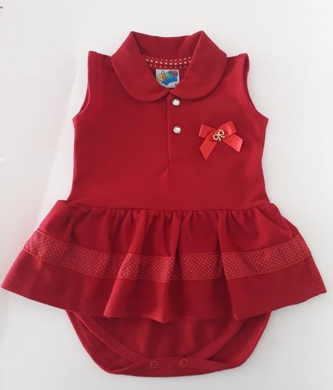 Body Vestido Piquet Vermelho