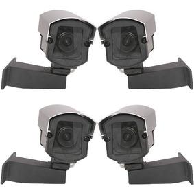 Kit 4 Câmeras Falsa Cftv Com Led Para Comercio E Residencia