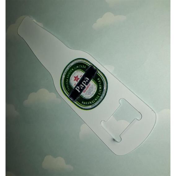 Destapador Metálico C/ Forma De Botella Personalizado