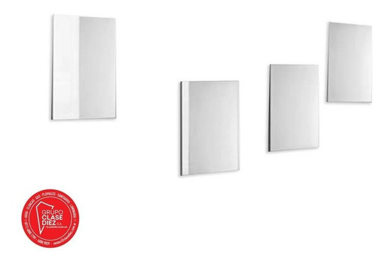 Set 4 Espejos Cuadrados Decorativos Autoadhesivos 20x20