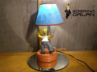 Lampara Homero Simpson (movimiento Luz Y Sonido) Con Detalle
