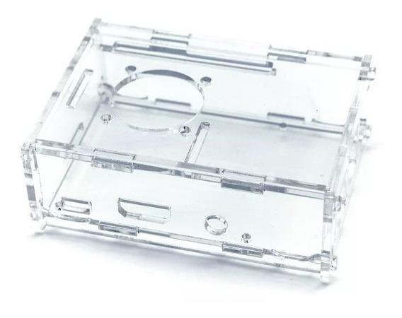 Gabinete Acrilico Transparente Raspberry Pi 3 Cooler Ptec