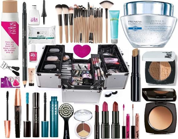 Maleta Grande Kit Maquiagem Completa Profissional Avon Renew