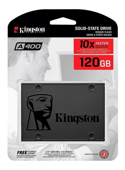 Disco Solido 120gb Kingston A400 Ssd 2.5 Gtia Oficial Cuotas