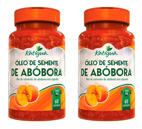 Imagem 1 de 6 de Óleo De Semente De Abóbora - 2x 60 Cápsulas - Katigua