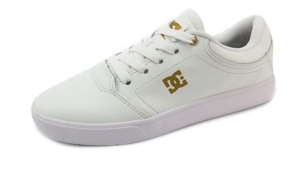 Tênis Dc Shoes Crisis Le La Adys100394l-wht Branco