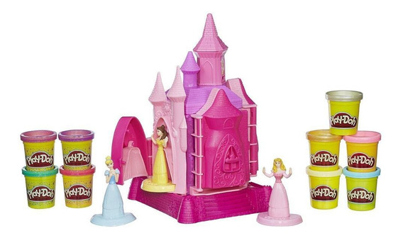 Conjunto Playdoh Princesas Castelo De Princesas 9 Massinhas