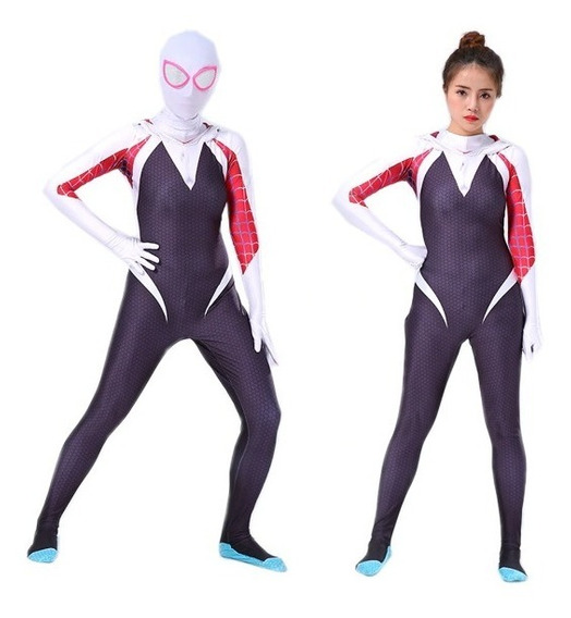 Disfraz Cosplay Gwen Stacy Spider Man Adulto Infantil Mujer