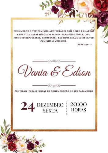 Imagem 1 de 1 de Arte Digital Convite De Casamento