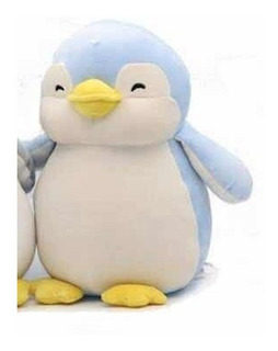 Pingüino De Peluche Ultrasuave Miniso Azul Kawaii