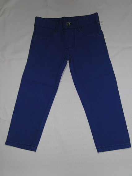 Calça Infantil Sarja Color Azul Ref.11! Queima D Estoque