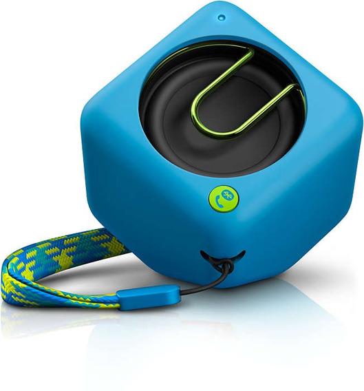 Caixa De Som Philips Bt1300a Bluetooth Sem Fio Azul