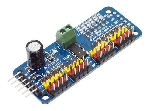 Modulo 12c Pca9685 16 Canales Pwm 12 Bits Servo Sg90 Mg995