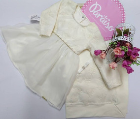 Saida Maternidade Bebê Menina Paraiso Vestido Batizado 7986