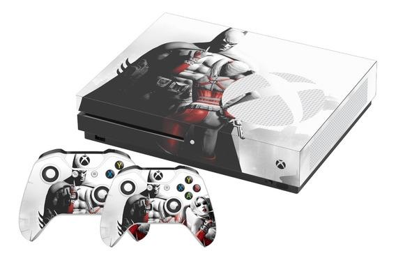 Skin Xbox One S Batman Arkham City Harley Quinn