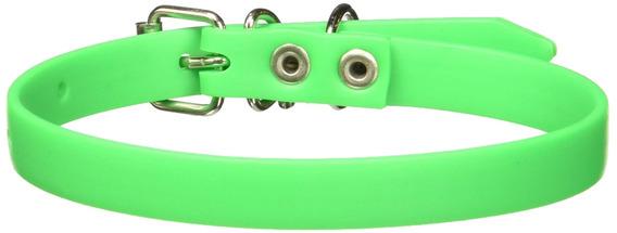 Kingpet Collar De Caucho, Extra Chico, Color Verde