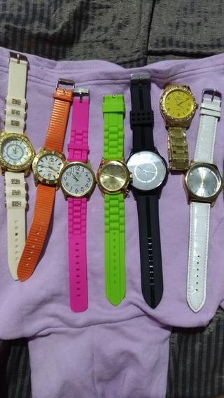 Lote Com 8 Relógios De Vitrine