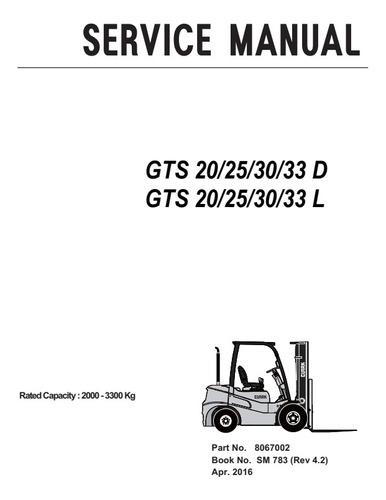 Manual De Serviço Clark Gts 20/25/30/33d