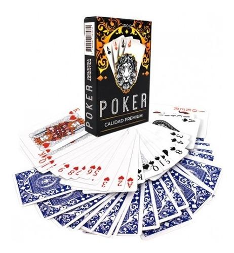Imagen 1 de 1 de Mazo Cartas Naipes De Poker Calidad Premium 54 Cartas Caja