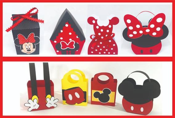 Cajitas Temáticas Para Mesa De Dulces De Mickey Mouse.