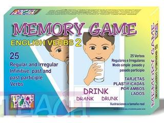 26020 Memoria Inglés 25 Verbos 50 Tarjetas 5+ De Teach Play