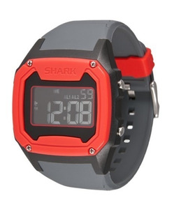 Relógio Killer Shark Silicon Cinza Vermelho Freestyle Eua