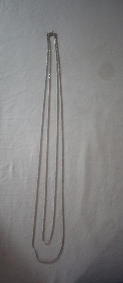 Cordão Prata De Lei Duplo 10,5 Gramas N°21