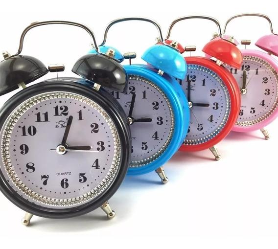 Relógio Despertador Metal Antigo Retro Sino Super Alto Pilha