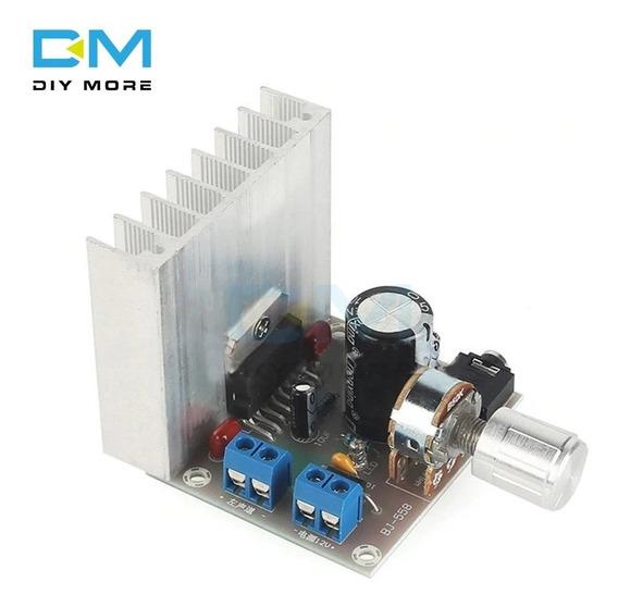 Placa Amplificador Estéreo 30+30w Tda7377 C/dissipador 12vdc
