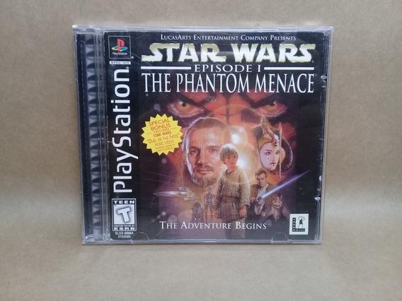 Star Wars The Phantom Menece Ps1 Original Manual E Encarte
