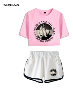 Billie Eilish Corto Manga T - Camisa Pantalones Cortos Set