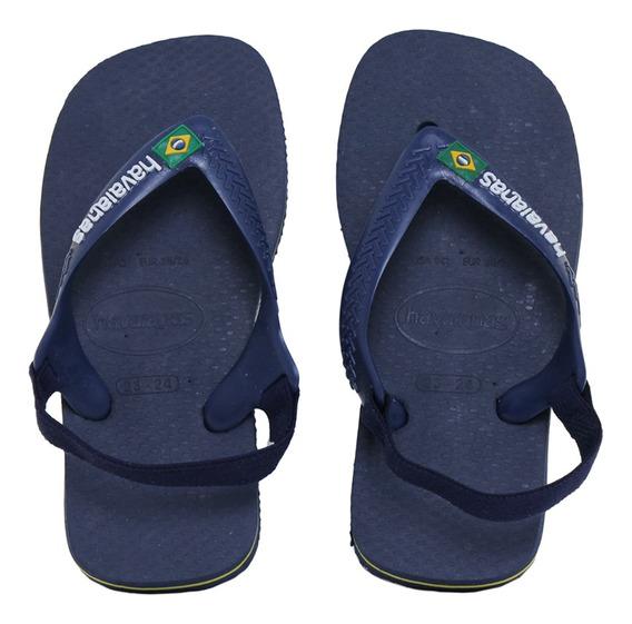 Ojotas Havaianas Baby Brasil Logo Bebe Mn/mn