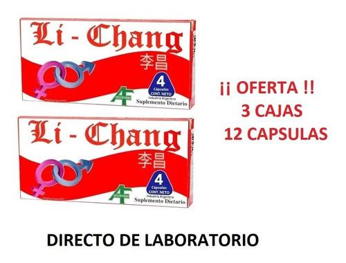 Imagen 1 de 6 de Li Chang X 12 Capsulas - Vigorizante Masculino.