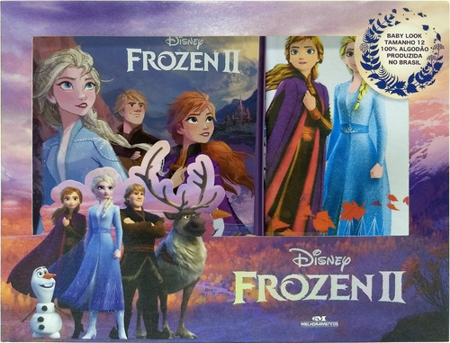 Imagem 1 de 1 de Frozen 2 - Livro + Camiseta