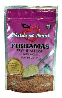 Fibramas Psyllium Husk Polvo Lino Molido Natural Seed 200gr