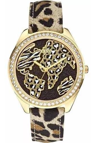 Relógio Guess Safari Dourado Marrom Fashion 92545lpgtdc2