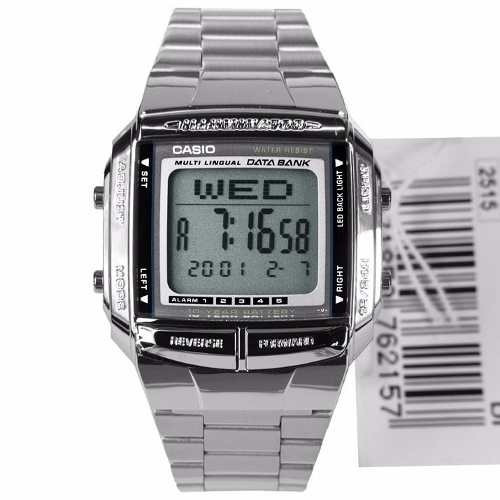 Relógio Casio Digital Metal Db-360-1adf Data Bank