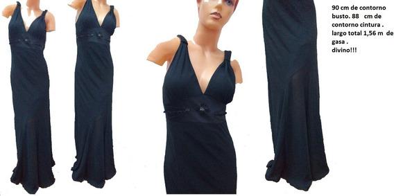 Vestido De Gasa Oferta Talle 2 De Fiesta Largo!!!